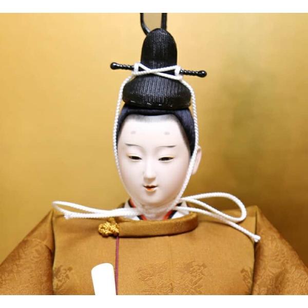 雛人形 久月 ひな人形 雛 平飾り 親王飾り 立雛 平安光義作 正絹 有職 黄櫨染 京八番立親王 久月オリジナル頭 h313-k-k4079 K-78|2508-honpo|04