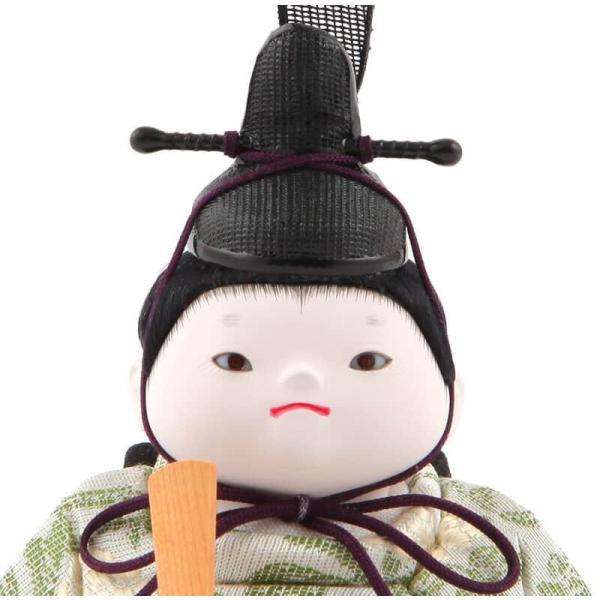 雛人形 幸一光 ひな人形 コンパクト 木目込み 平飾り 親王飾り もも 目入頭 正絹 黒艶塗台 h313-koi-4050 2508-honpo 04