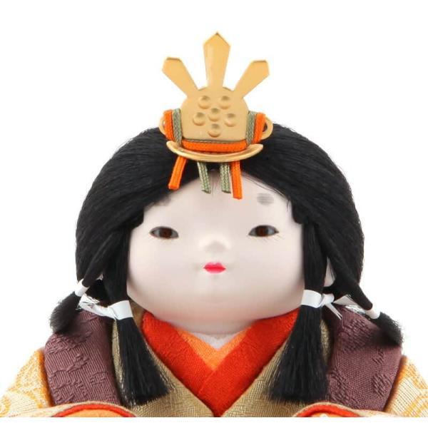 雛人形 幸一光 ひな人形 コンパクト 木目込み 平飾り 親王飾り もも 目入頭 正絹 黒艶塗台 h313-koi-4050 2508-honpo 05