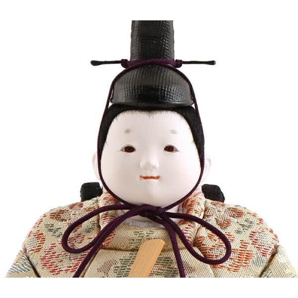 雛人形 幸一光 ひな人形 コンパクト 木目込み 平飾り 親王飾り さくら 目入頭 正絹 ペーパーウッド台 h313-koi-4200|2508-honpo|04