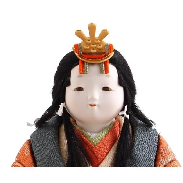 雛人形 幸一光 ひな人形 コンパクト 木目込み 平飾り 親王飾り さくら 目入頭 正絹 ペーパーウッド台 h313-koi-4200|2508-honpo|05