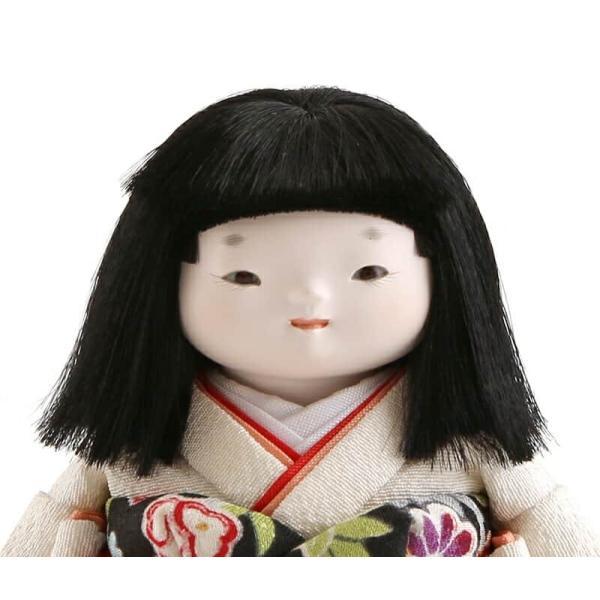 雛人形 幸一光 ひな人形 コンパクト 童人形 浮世人形 人形単品 和works お豆さん 黒ちゃん 目入頭 正絹 化粧箱入 h313-koi-ww0b 2508-honpo 04