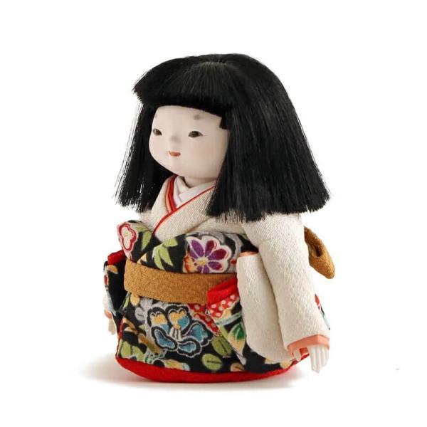 雛人形 幸一光 ひな人形 コンパクト 童人形 浮世人形 人形単品 和works お豆さん 黒ちゃん 目入頭 正絹 化粧箱入 h313-koi-ww0b 2508-honpo 05
