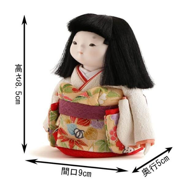 雛人形 幸一光 ひな人形 コンパクト 童人形 浮世人形 人形単品 和works お豆さん 白ちゃん 目入頭 正絹 化粧箱入 h313-koi-ww0c 2508-honpo 02
