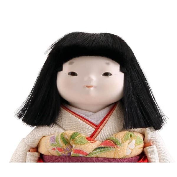 雛人形 幸一光 ひな人形 コンパクト 童人形 浮世人形 人形単品 和works お豆さん 白ちゃん 目入頭 正絹 化粧箱入 h313-koi-ww0c 2508-honpo 04