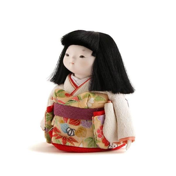 雛人形 幸一光 ひな人形 コンパクト 童人形 浮世人形 人形単品 和works お豆さん 白ちゃん 目入頭 正絹 化粧箱入 h313-koi-ww0c 2508-honpo 05