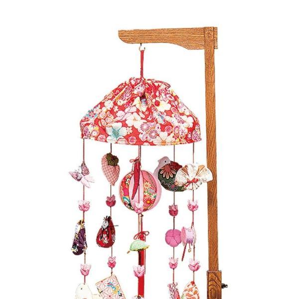 雛人形 平安豊久 ひな人形 雛 つるし飾り つるし雛 さげもん 花もも 25号 伸縮式スタンド付 h313-mo-332401 HD-221|2508-honpo|03