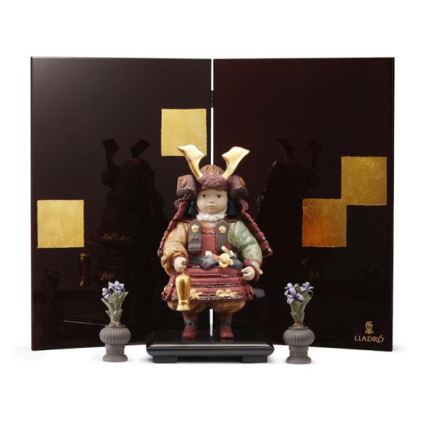 リヤドロ 五月人形 子供大将飾り 武者人形 Lladro 磁器人形 若武者60周年記念モデル フルセット 限定3500体 h315-01013045-fs|2508-honpo