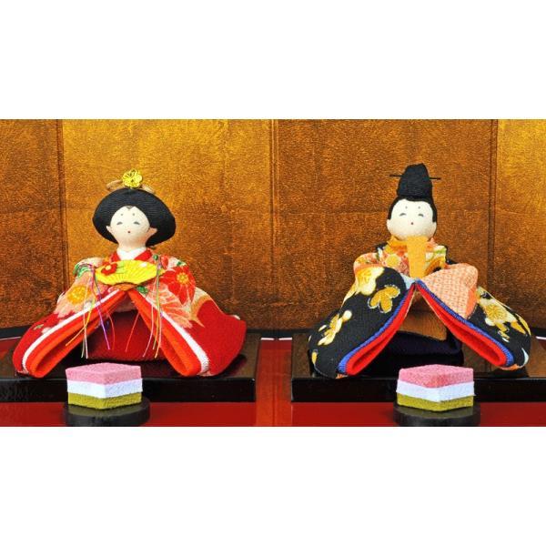 雛人形 コンパクト ひな人形 雛 三段飾り 十人飾り 彩り友禅雛 h283-rk-1-0682|2508-honpo|03