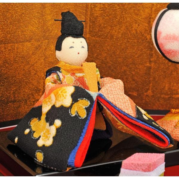 雛人形 コンパクト ひな人形 雛 三段飾り 十人飾り 彩り友禅雛 h283-rk-1-0682|2508-honpo|04