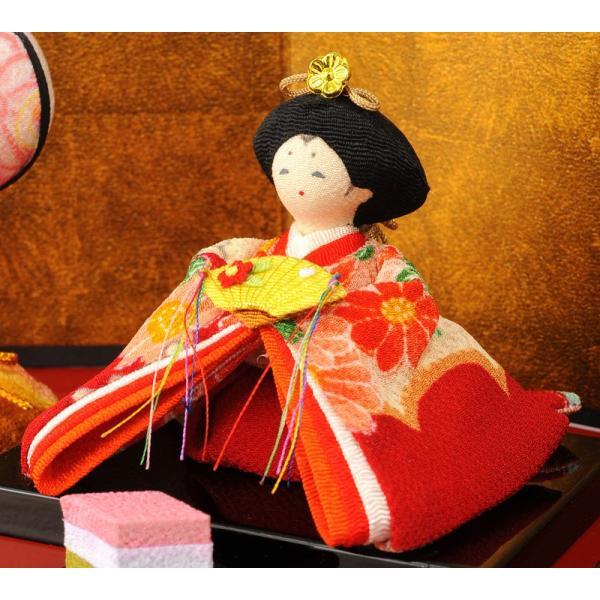 雛人形 コンパクト ひな人形 雛 三段飾り 十人飾り 彩り友禅雛 h283-rk-1-0682|2508-honpo|05