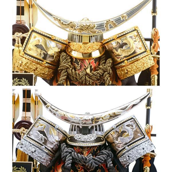 五月人形 伊達政宗 兜ケース飾り 兜飾り 平安義正作 パノラマケース 選べる2色 h285-sm-28-5-0607as|2508-honpo|04