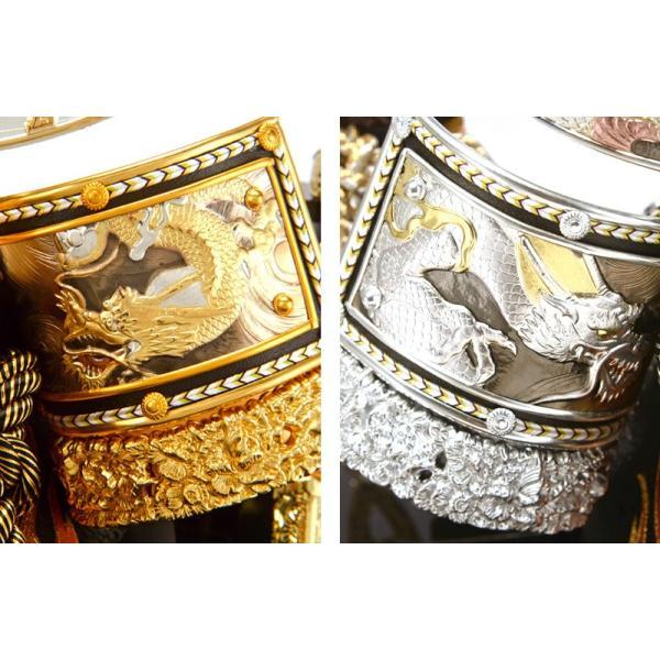 五月人形 伊達政宗 兜ケース飾り 兜飾り 平安義正作 パノラマケース 選べる2色 h285-sm-28-5-0607as|2508-honpo|05