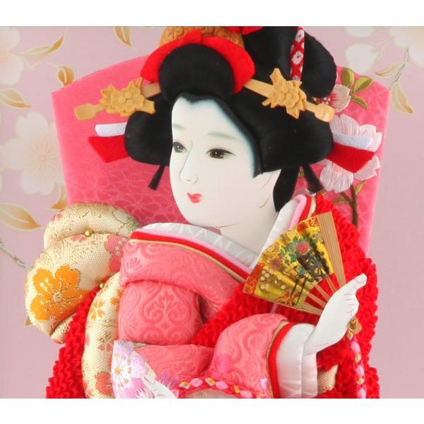 羽子板 正月飾り ケース飾り 正絹造り 極上桜 赤 10号 赤溜りケース h291-skt-10-red10|2508-honpo|03