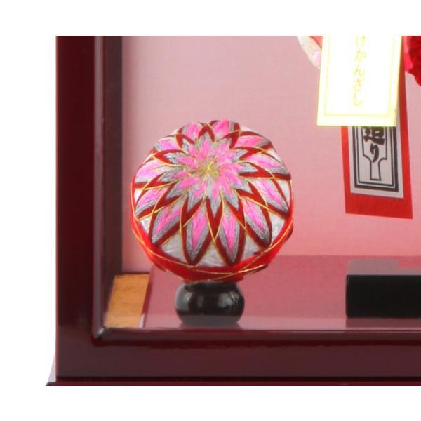 羽子板 正月飾り ケース飾り 正絹造り 極上桜 赤 10号 赤溜りケース h291-skt-10-red10|2508-honpo|05