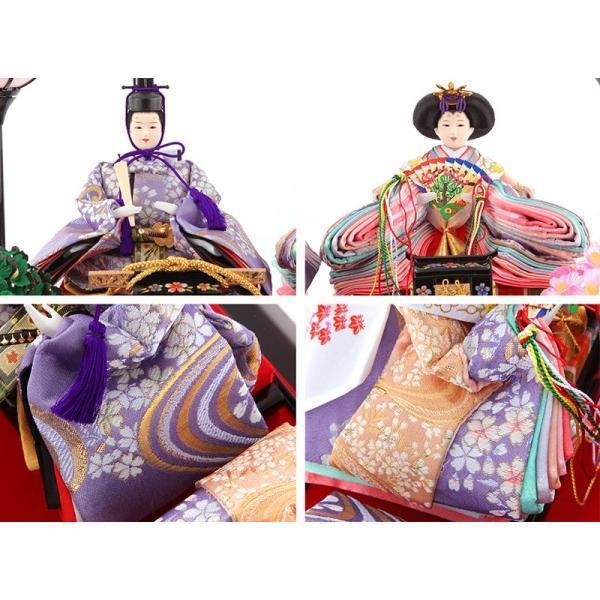 雛人形 コンパクト ひな人形 ケース飾り 親王飾り 清玉作 芥子親王 アクリルケース h293-sg-442 2508-honpo 05