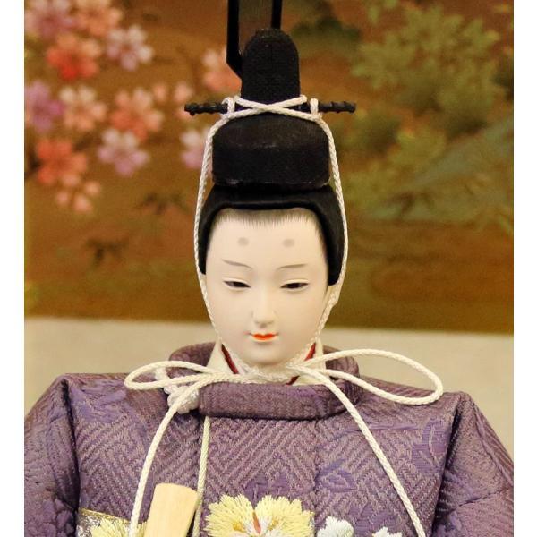 雛人形 久月 ひな人形 雛 平飾り 親王飾り 立雛 好英作 刺繍 小三五立親王 久月オリジナル頭 h313-k-k4039 K-80 2508-honpo 04