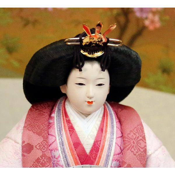 雛人形 久月 ひな人形 雛 平飾り 親王飾り 立雛 好英作 刺繍 小三五立親王 久月オリジナル頭 h313-k-k4039 K-80 2508-honpo 05