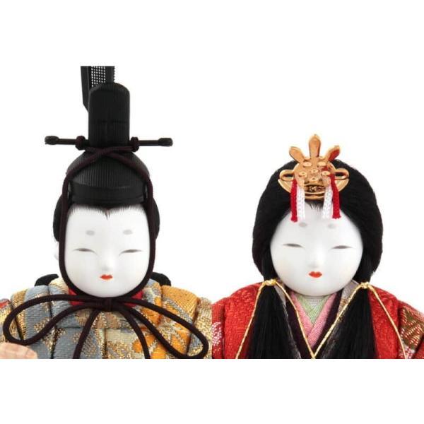 雛人形 一秀 ひな人形 木目込人形飾り コンパクト収納飾り 親王飾り 木村一秀作 桃山雛 150号 桐収納 h303-ih-051|2508-honpo|05