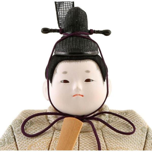 雛人形 幸一光 ひな人形 コンパクト 木目込み 平飾り 親王飾り 小雪 目入頭 屏風E 正絹 アクリル足付飾台 h313-koi-432e|2508-honpo|04