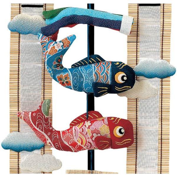 五月人形 豊久 名前旗 室内用 室内飾り 雲のかなたへ 元気鯉 名前・生年月日入れ 代金込み 立台付 h305-mo-m-t18 GC-254|2508-honpo|04