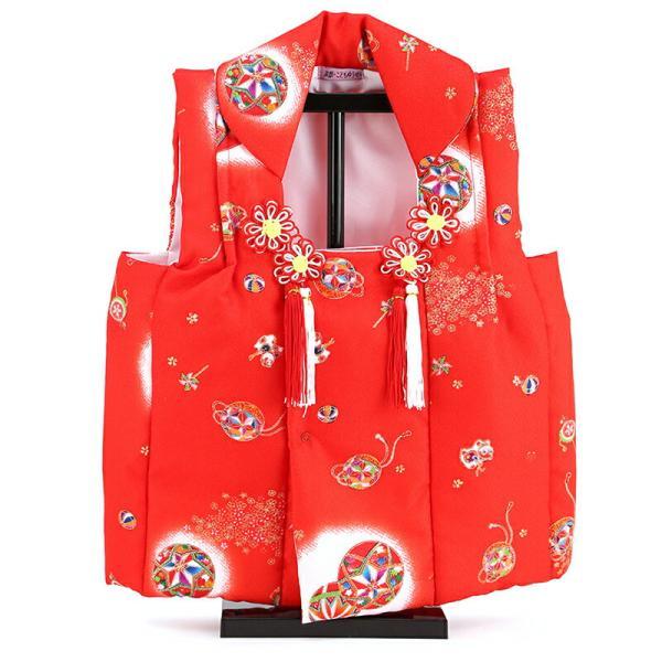 お被布 被布着 お祝着 赤 飾り台付 mo-hihu-red|2508-honpo