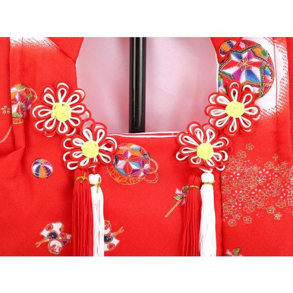 お被布 被布着 お祝着 赤 飾り台付 mo-hihu-red|2508-honpo|02