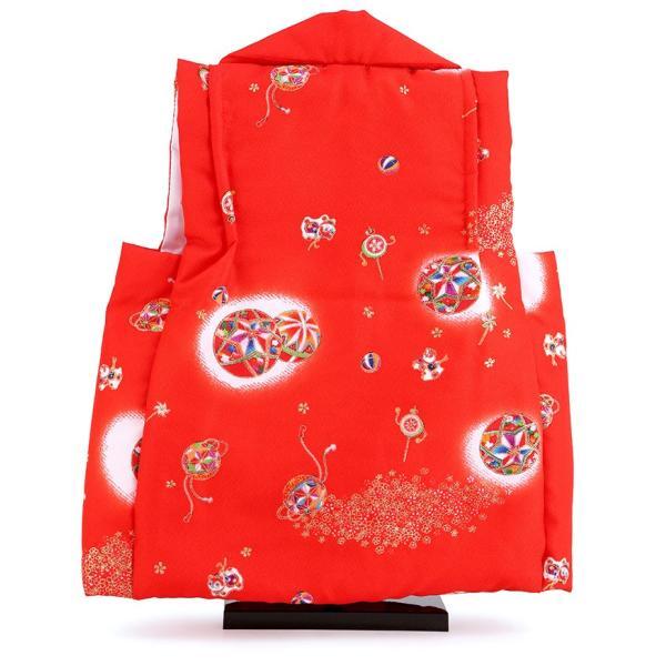 お被布 被布着 お祝着 赤 飾り台付 mo-hihu-red|2508-honpo|04