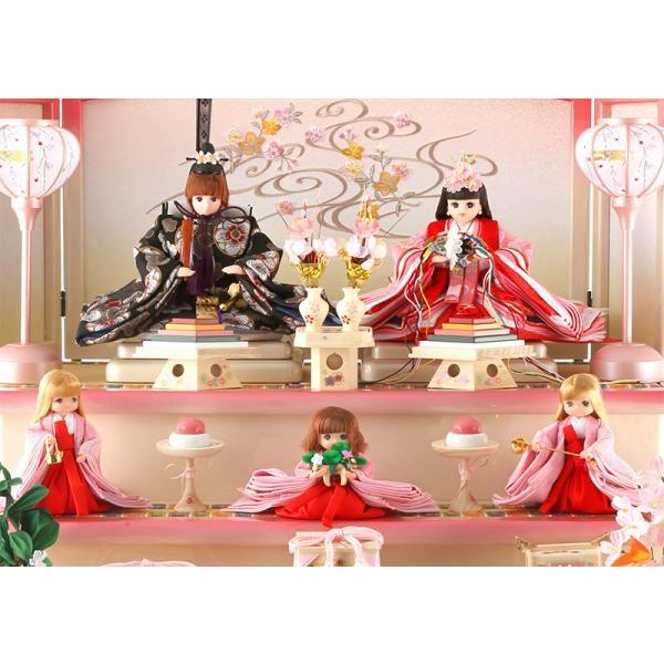 ひな人形 雛人形 久月 リカちゃん 三段飾り 五人飾り h273-ri-268|2508-honpo|03