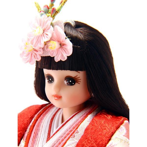 ひな人形 雛人形 久月 リカちゃん 三段飾り 五人飾り h273-ri-268|2508-honpo|04