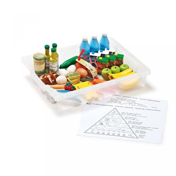 組立系 積木系 おもちゃ  Erzi German Wooden Toy Nutrition Circle Learning Box, 47 Pc 2525k