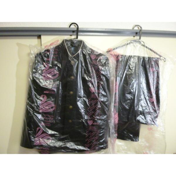 COMME CA DU MODE School Label 黒 ラウンドカラー学生服(学ラン)160A 上下セット 中古 業者クリーニング済み|25dou|02