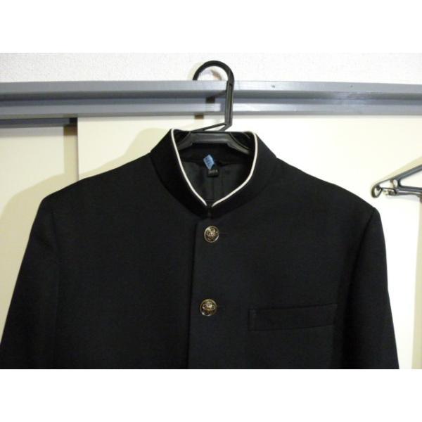 COMME CA DU MODE School Label 黒 ラウンドカラー学生服(学ラン)160A 上下セット 中古 業者クリーニング済み|25dou|03
