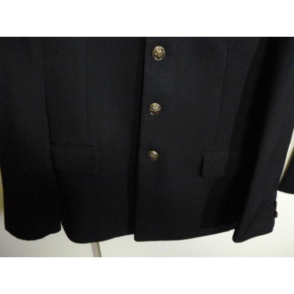 COMME CA DU MODE School Label 黒 ラウンドカラー学生服(学ラン)160A 上下セット 中古 業者クリーニング済み|25dou|04