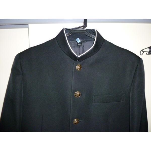 COMME CA DU MODE School Label 黒 ラウンドカラー学生服(学ラン)160A 上下セット 中古 業者クリーニング済み|25dou|05