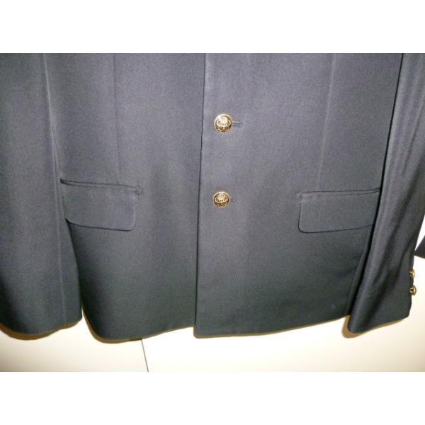 COMME CA DU MODE School Label 黒 ラウンドカラー学生服(学ラン)160A 上下セット 中古 業者クリーニング済み|25dou|06