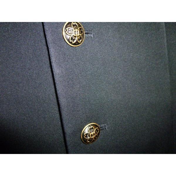 COMME CA DU MODE School Label 黒 ラウンドカラー学生服(学ラン)160A 上下セット 中古 業者クリーニング済み|25dou|08
