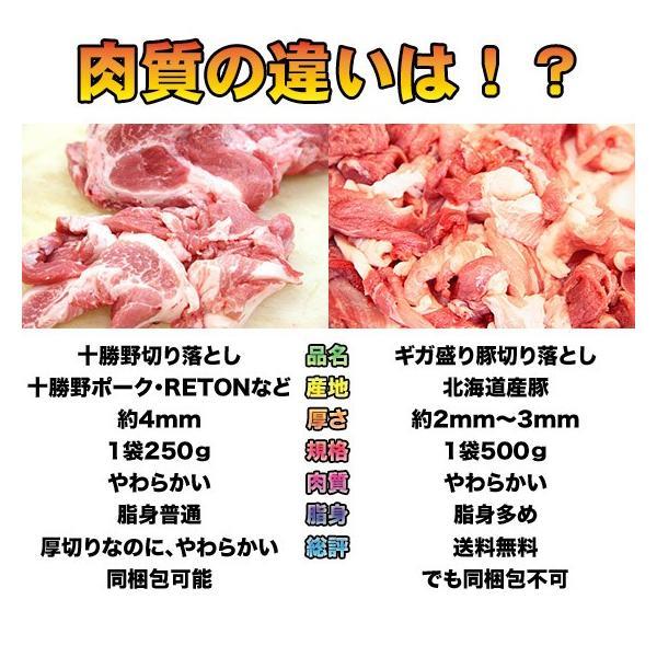 送料無料 北海道産 ギガ盛り豚切り落とし4.5kg(500g×9袋)|2983|02
