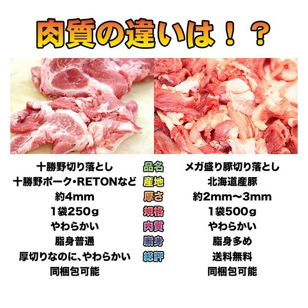 送料無料 メガ盛り豚切り落とし 500g 3袋|2983|02