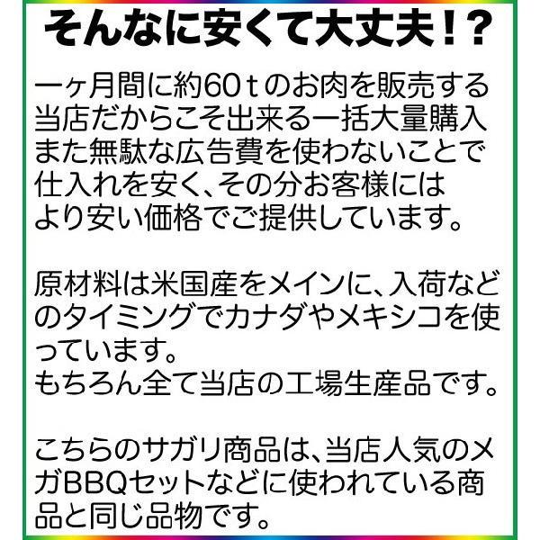 アメリカンビーフ サガリ 500g (BBQ バーベキュー) 2983 04