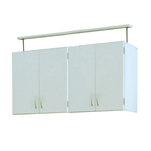 扉裏も収納できる本棚 キャビネット  上置きラック4ドアタイプ 収納 収納棚  送料無料|2e-unit