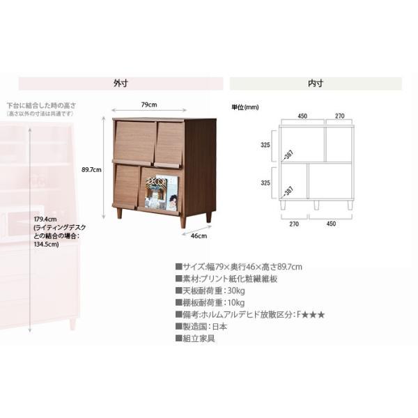 ディスプレイラック 幅80cm マガジンラック REZONA リゾーナ  日本製 低ホルム 05P0 送料無料|2e-unit|02