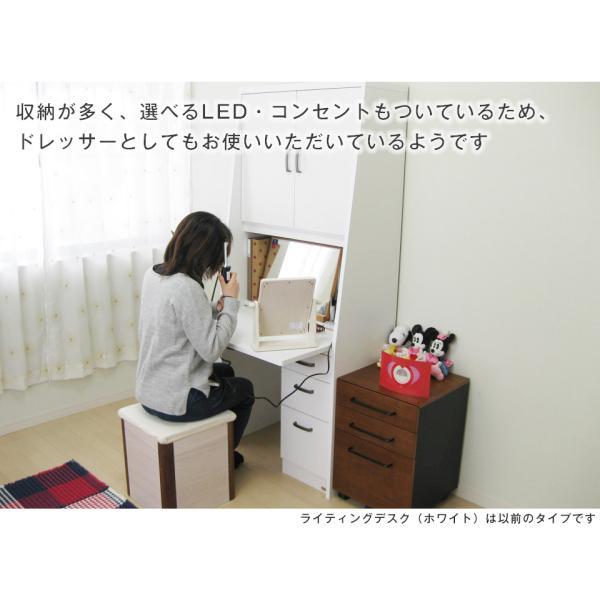 省スペースのプレミアムライティングデスク 幅75cm 学習机 書斎机 デスク 入学祝い LEDライト 日本製 PCデスク 完成家具 省スペース 2e-unit 13