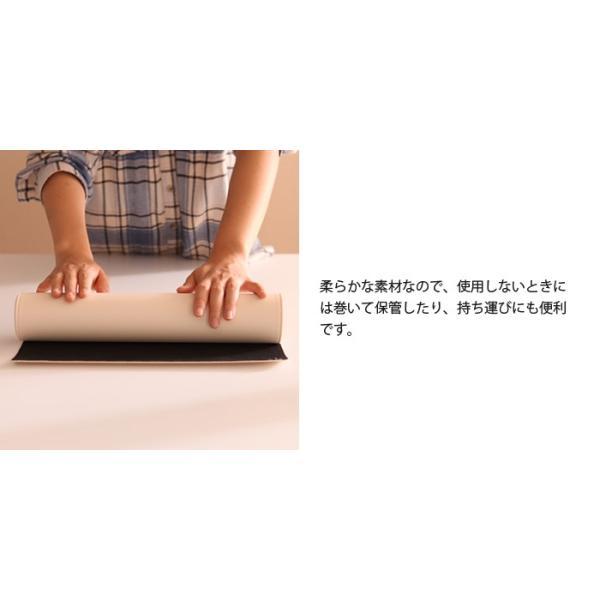 マウスパッド S 丸型 合皮 合成皮革 レザー おしゃれ デスクマット 円 グレー ピンク グレー アイボリー ココア グリーン キャラメル ブラウン|2e-unit|10