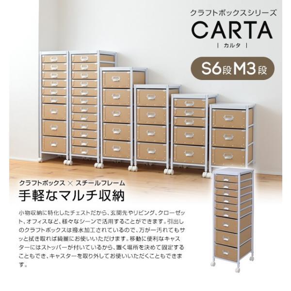 クラフトボックスシリーズ CARTA S6段M3段 送料無料 2e-unit