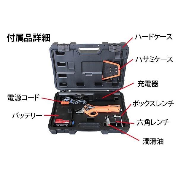 在庫有 ニシガキ 太丸ハンンディー25 N-928 バッテリ+充電器付 国内最軽量670g 生木最大φ25mm切断可能 充電式剪定鋏 セパレート式バッテリー|2kanajin|02