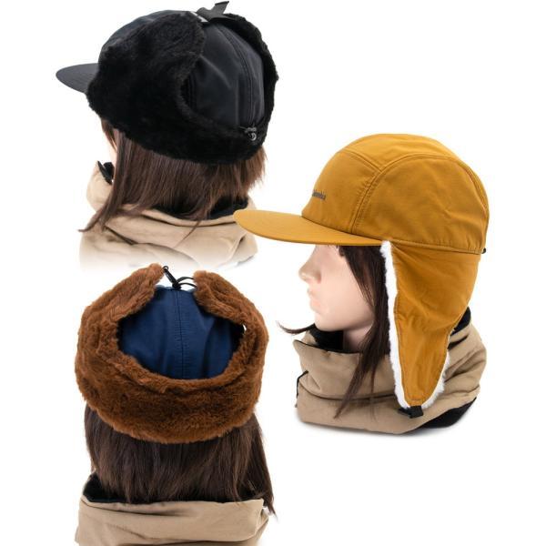 帽子 コロンビア Columbia Jourdan Mountain Fur Flap Cap ジョーダン マウンテン ファーフラップ キャップ|2m50cm|05