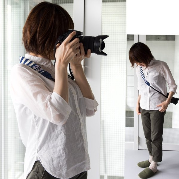 チャムス CHUMS カメラストラップ 3.8 スウェットナイロン|2m50cm|16