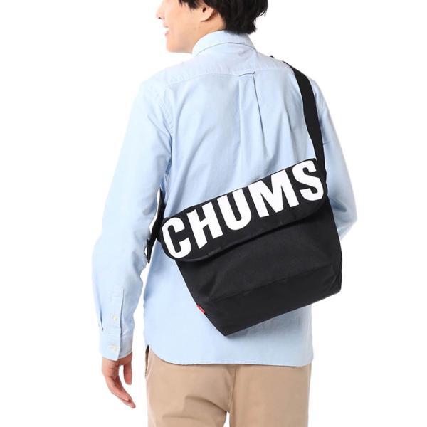 チャムス CHUMS エコ ロゴメッセンジャーバッグ|2m50cm|05
