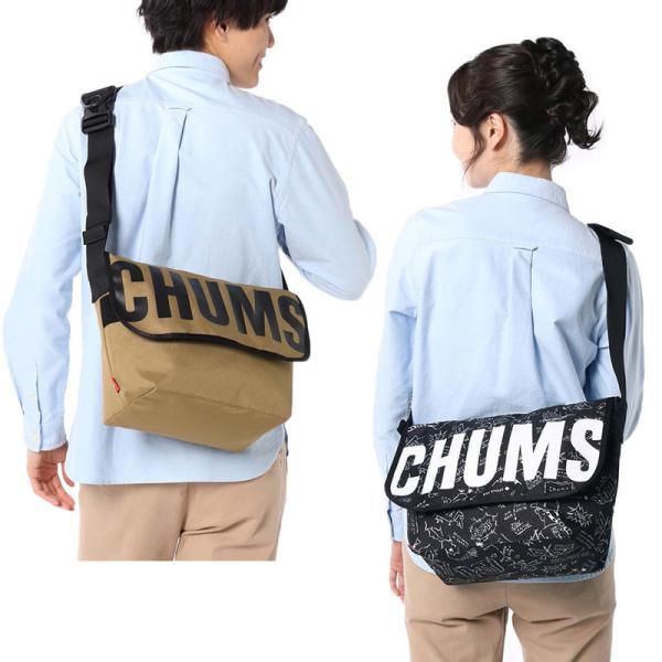 チャムス CHUMS エコ ロゴメッセンジャーバッグ|2m50cm|07